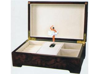 Ballerina lacquered image music box