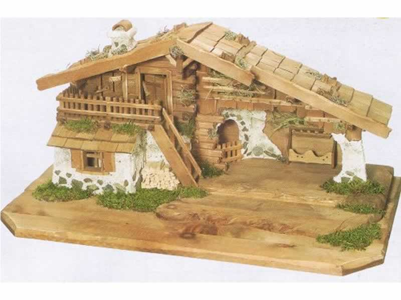 Crib made of wood
