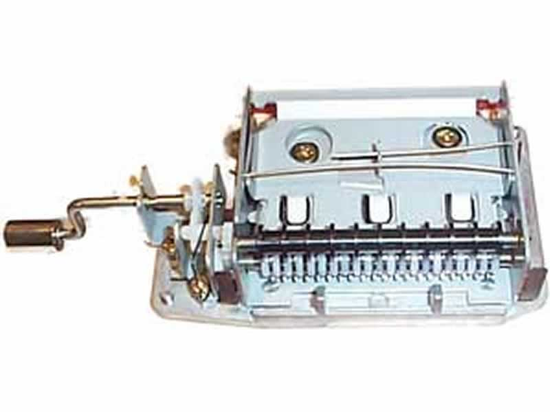 Hand crank musical mechanism 15 notes